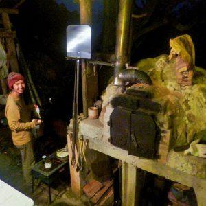 松川家で石窯パーティー