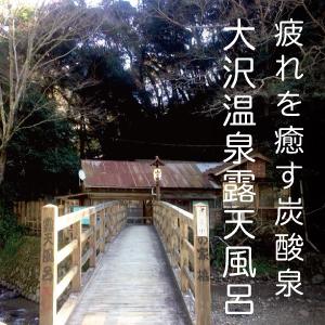 疲れを癒す炭酸泉【大沢温泉の露天風呂】